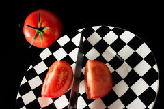 Tomatescheiben Lizenzfreies Stockbild