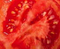 Tomateschnitt Lizenzfreies Stockfoto