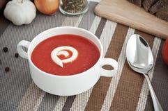 Tomatesuppe Lizenzfreies Stockfoto