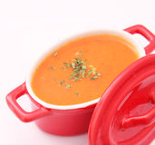 Tomatesuppe Stockbild