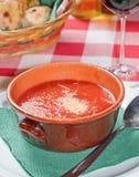 Tomate-Suppe Lizenzfreie Stockfotos