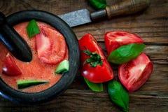 Tomatförkylningsoppa Arkivfoto