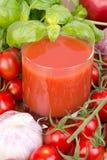 Tomatfruktsaft arkivbilder