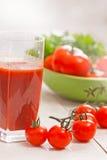 Tomatfruktsaft Fotografering för Bildbyråer