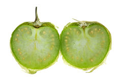 Tomatillo cut in half Royalty Free Stock Photo