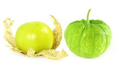 Tomatillo or mexican green tomato fruit or vegetable Stock Photography