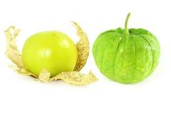 Tomatillo ou fruto ou vegetal verde mexicano do tomate Fotografia de Stock