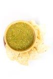 Tomatillo salsa verde, meksykańska kuchnia Zdjęcie Stock