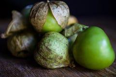 Tomatillos dal Messico fotografia stock libera da diritti