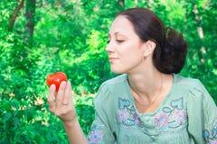 tomatkvinna Royaltyfria Foton