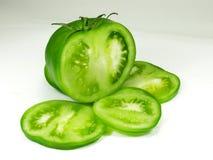 Tomato. Sliced green tomato stock photo