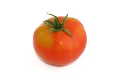 Tomato. Red tomato isolated on white Royalty Free Stock Photography