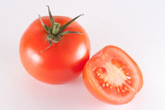 Tomato. Fresh red tomato isolated on white background Royalty Free Stock Photography