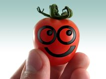 Tomato. Smiling tomato concept Stock Photos