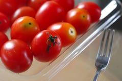 Tomato. Red Orange Baby Cherry Tomato Royalty Free Stock Images