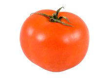 Tomato. Isolated on white, clipping path included royalty free stock photo