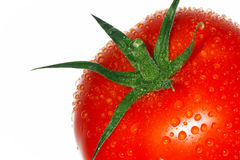Tomato. Red tomato. Isolated over white background Royalty Free Stock Photo