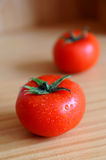 Tomato. Isolated tomato with water drops on it Stock Photography