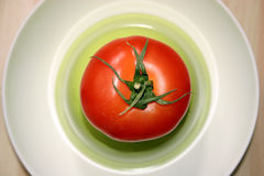 Tomato. In a plate stock image
