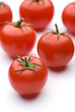Tomato. Ripe red tomato of the white back Royalty Free Stock Photo