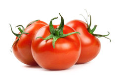 Tomato. Ripe red tomatoes on a white background Royalty Free Stock Photos