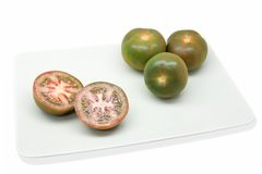 Tomato. Es of the variety raf cultivated of sustainable and ecological form royalty free stock image