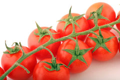 Tomato. Cherry Tomatoes on a withe background Royalty Free Stock Photo