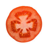 Tomato. Section of fresh tomato on white background Royalty Free Stock Image