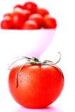 Tomato. Big fresh tomato on pink royalty free stock image