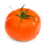 Tomato. Ripe tomato on a white background royalty free stock images