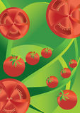 Tomato abstract background Stock Photos