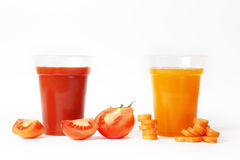Tomato And Carrot Juice Stock Images