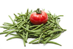 Tomato And Green Beans Royalty Free Stock Image