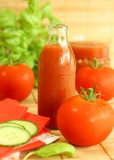 Tomato And Juice Stock Photography
