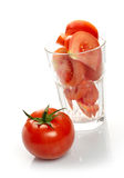 Tomato And Slices In Glass Stock Photos
