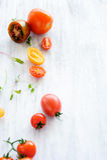 Tomato arrangement Royalty Free Stock Image