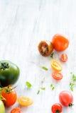 Tomato arrangement Stock Photo