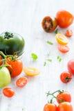 Tomato arrangement Royalty Free Stock Photos