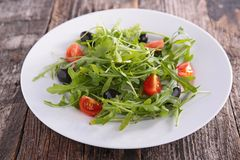 Tomato and arugula salad Royalty Free Stock Images