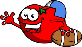 Tomato as American football player Stock Photography