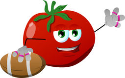 Tomato as American football player Stock Image