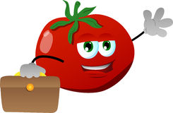 Tomato as businessman Stock Images