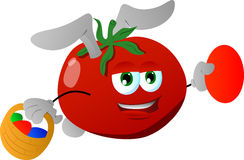 Tomato as Easter bunny Royalty Free Stock Images