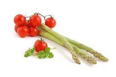 Tomato and asparagus Royalty Free Stock Photos