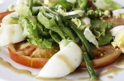 Tomato asparagus salad Royalty Free Stock Photos