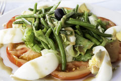Tomato asparagus salad Royalty Free Stock Photography