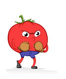 Tomato athlete Stock Photo