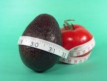 Tomato Avocado Measuring Stock Images