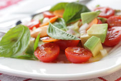 Tomato and Avocado salad Royalty Free Stock Photo