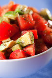 Tomato and avocado salad Stock Photo